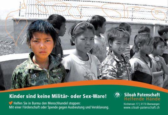 Kinder sind keine Militär- oder Sex-Ware!